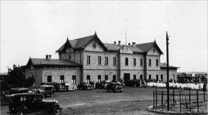 Puerto Deseado Railway - Puerto Deseado in the 1930s.