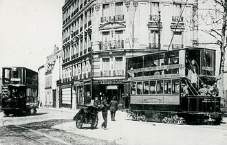 Aubervilliers - ...as well as an electric Imperial tram from TPDS which circulated on the Place de la République - Gare de l'Est - Parisian cemetery - Quatre Chemins - Aubervilliers line.