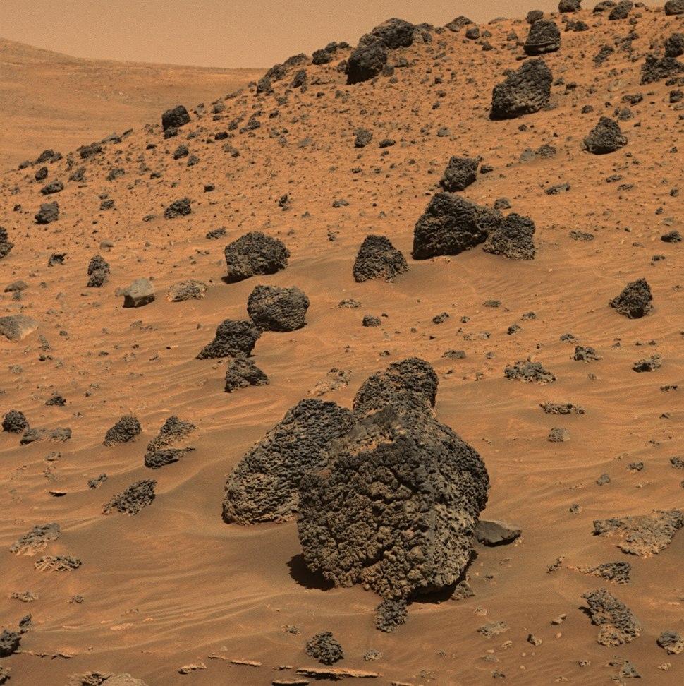 PIA08440-Mars Rover Spirit-Volcanic Rock Fragment