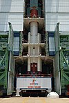 PSLV-C30 core stage with strap ons in Mobile Service Tower.jpg
