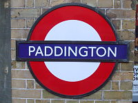 Paddington tube stn Circle District roundel.JPG