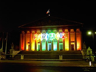 Paris bid for the 2012 Summer Olympics - Image: Palais Bourbon at Night 2012 Bid