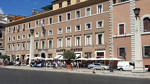 Palazzo Rusticucci-Accoramboni - The building's main facade along Via della Conciliazione
