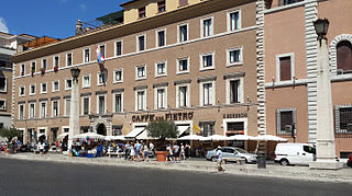 Palazzo Rusticucci-Accoramboni building in Rome, Italy
