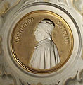 Palazzo venturi ginori, salone ottocentesco, medaglione con busto cristoforo landino 2.jpg
