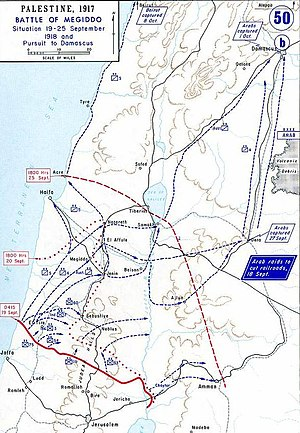 Battle of Megiddo (1918) - Progress of the battle, 19–24 September 1918