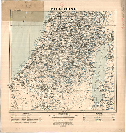 Palestine in British map 1924 the map now in the National Library of Scotland - History of Palestine