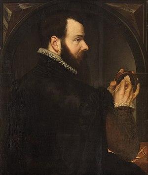 Willem van den Broeck - Image: Paludanus Selbstbildnis als Wachsbossierer Wien