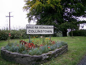 Collinstown - Bilingual sign