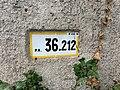 Panonceau PK 36,212 Route D28 Route Bâgé Crottet 1.jpg