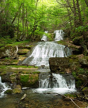 Brake, West Virginia - Image: Panorama Upper Falls Send