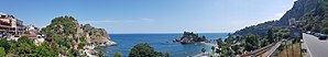 Isola Bella (Sicily) - Panoramic view of Isola Bella, Taormina