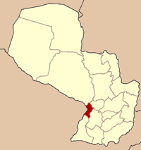 Localização do Departamento de Central no Paraguai