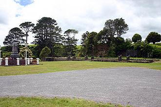 Parihaka - Parihaka: the grave of Te Whiti and the foundations of Te Raukura, 19 November 2005