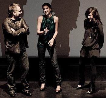 Pascal Laugier, Morjana Alaoui and Mylène Jamp...