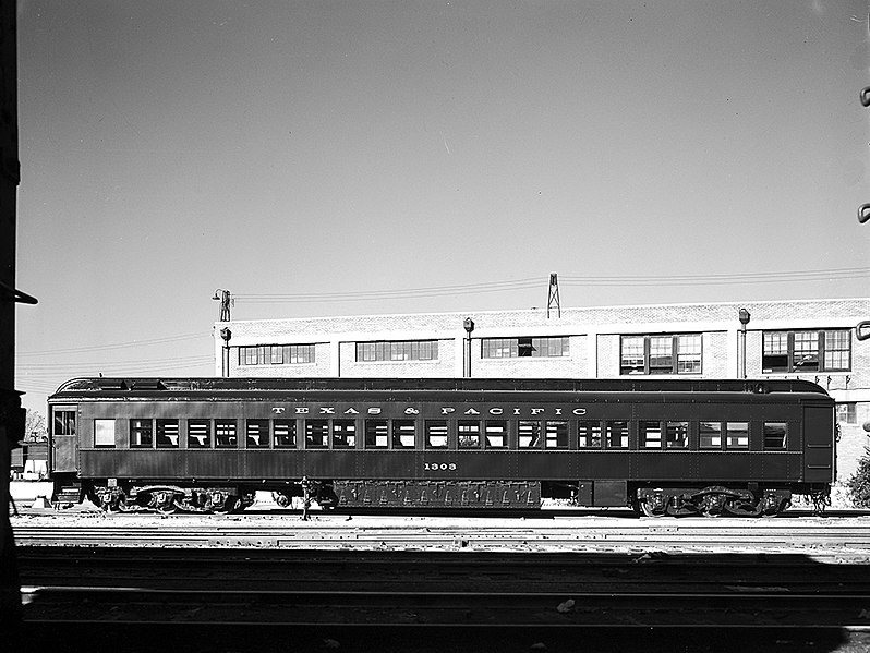 File:Passenger Car 1303, Texas and Pacific Railway Company ... Pacific Railway Company