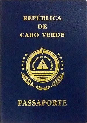 Cape Verdean passport - The front cover of a Cape Verdean passport.