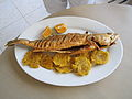 Patacones and fried corvina.JPG