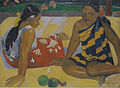 Paul Gauguin - Parau Api. Gibt's was Neues, 1892.jpg