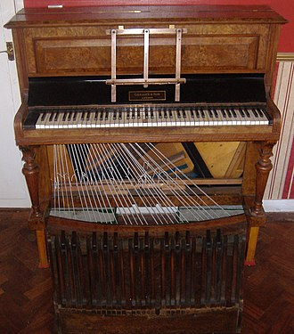Pedal piano - An upright pedal piano