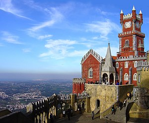 English: Pena Palace, Sintra, Portugal. França...