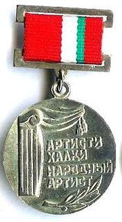 Peoples Artist of the Tajik SSR award of the Soviet Union