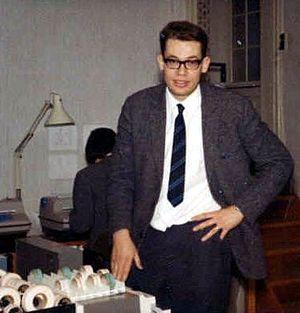Per Brinch Hansen - At age 29, in the RC 4000 computer lab (1967)