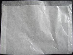 Glassine - Glassine envelope