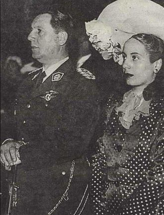 Juan Perón - Juan and Eva Perón at their 1945 wedding