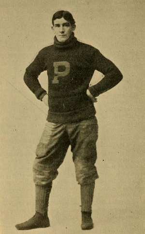 Pete Overfield - Overfield during his football days at Penn