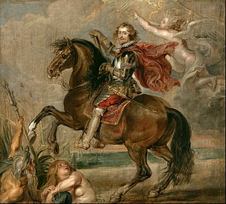 George Villiers, 1st Duke of Buckingham - Study for Rubens' equestrian portrait, 1625.