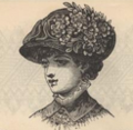 Peterson's Ladies National Magazine, June, 1883 - women's hat fashion 06.png