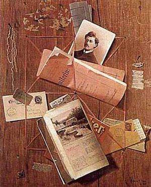 John F. Peto - Letter Rack by Peto