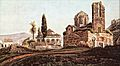Peytier - The Fethiye Mosque and the Church of the Taxiarches, Athens.jpg