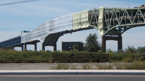 Girard Point Bridge - The renovation of the Girard Point Bridge as of September 2010.