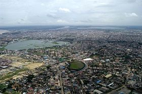 Aerial view of Phnom Penh