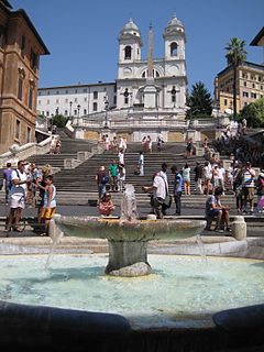 Spanish Steps stairs in Rome, Italy