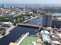 Pic geo photos - ph=mm=manila=pasig river=jones bridge - connecting intramuros and binondo; aerial shot from riverview mansion -philippines--2015-0624--ls-.JPG