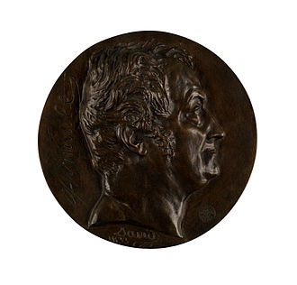 Antoine-Vincent Arnault - Medallion of Arnault by d'Angers
