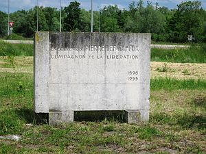 Pierre Lefaucheux - Monument to Pierre Lefaucheux, at the site of his fatal 1955 car accident.  The monument is just off the highway west of Saint-Dizier, though the roads at the site of the actual accident have been subsequently reworked.