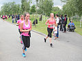 Pijn in de mild rennend Ladiesrun 2015.jpg