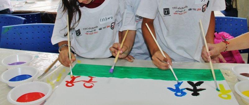 File:PikiWiki Israel 43423 tec4schools Christian Druze Jewish meeting .JPG