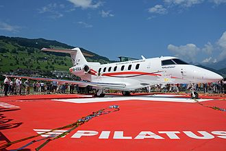 Pilatus PC-24 - PC-24 prototype during its roll-out ceremony.