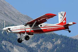 "Patrouille Suisse - The team's Pilatus PC-6 V-622 ""Felix"""