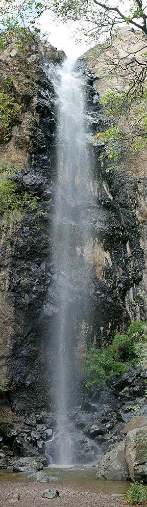 Pine Canyon Falls inside Big Bend National Park.