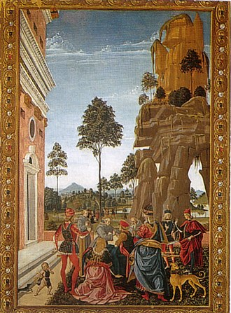 Miracles of St Bernardino - Image: Pinturicchio, san bernardino richiama alla vita un uomo morto trovato sotto un albero