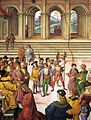 Pinturicchio - No. 3 - Frederick III Crowning Enea Silvio Piccolomini with a Laurel Wreath (detail) - WGA17793.jpg