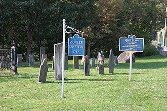 Pioneer Cemetery (Sidney, New York) - Image: Pioneer Cemetery Signs