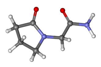 Piracetam - Image: Piracetam ball and stick