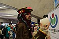 Pirates of the Caribbean cosplay with the Wikipedia globe in TLP 2017 02.jpg